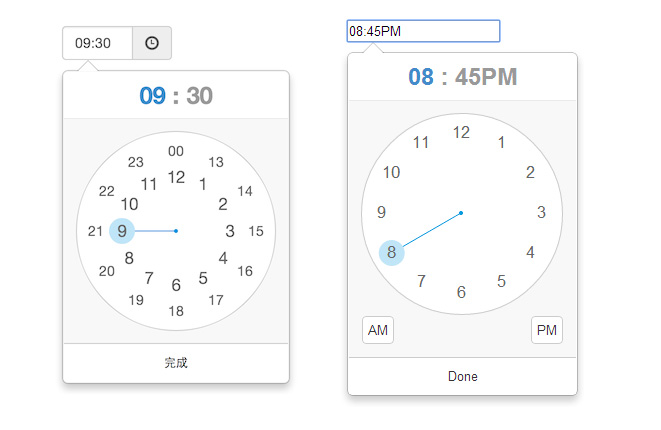 jquery-timepicker-clockstyle
